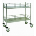 Trolley with 2 Shelf and Side Rail